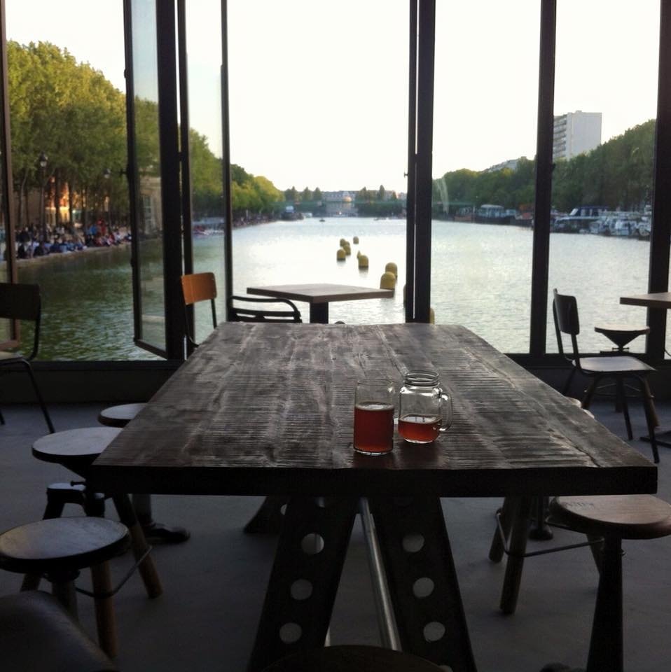 Vista sobre o Bassin de la Villette. Foto: divulgação.