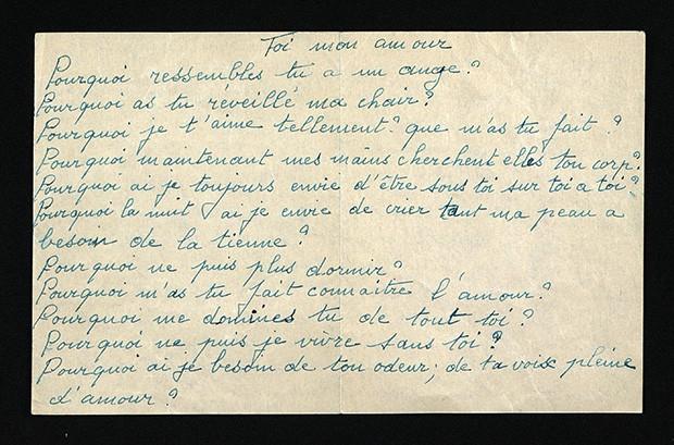 Cartas de amor da cantora Edith Piaf